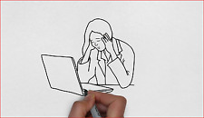 Create a professional hand-drawn whiteboard animation videoscribe