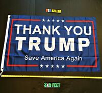 Donald Trump 2020 Flag FREE FIRST CLASS SHIP Thank You Trump USA Sign Poster New