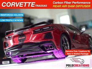 AIR DAM DIFFUSER Carbon Fiber Traxxas CORVETTE 4 Tec 3.0 Spoilers Down Force