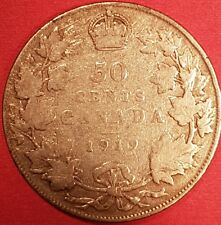 1919 Silver Canadian 50 Cent Coin   ID #94-14
