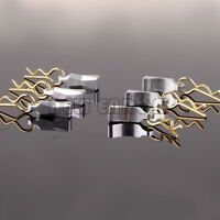 RC 6P 1/10 1/8 Alloy Body Clips with Mount For Axial Yeti Silver ROCK RACER