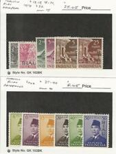 Indonesia Riau, Postage Stamp, #13//40 Mint Hinged, 1954-60, JFZ