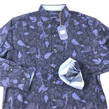 Tommy Bahama Mens Shirt Grenada Garden Ocean Deep Silk LS T317447 New Medium M