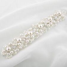 Bridesmaids Bridal White Pearls Vintage Style Hair Vine Tiara Headpiece