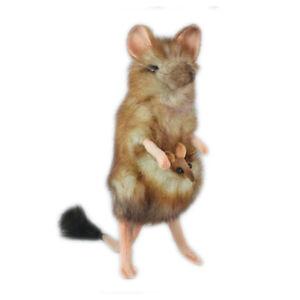 HANSA MARSUPIAL MOUSE REALISTIC CUTE SOFT ANIMAL PLUSH TOY 19cm **NEW**