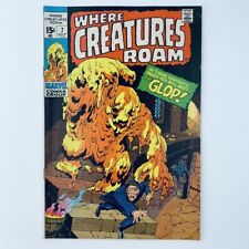 WHERE CREATURES ROAM #7 - The Glop Appearance - Marvel Comics 1971 - FN/VF!!!