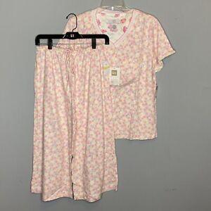 Karen Neuburger Sleepwear Pj Pajama Top Bottoms UNDER THE SUN  Medium NWT $66.