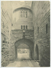 VINTAGE PHOTO CASTLES OF BRITAN GATE/EXTERIOR PORTCULLIS AT WARWICK