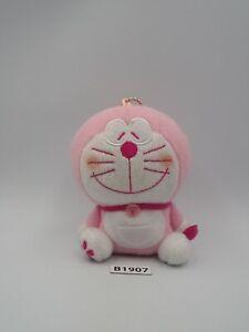 "Doraemon B1907 Pink Sk Japan Mascot keychain Plush 4"" Stuffed Toy Doll Japan"
