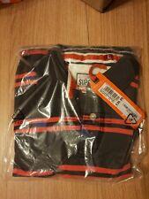 NEUF RRP £ 39.99 grande taille homme Superdry Nouveauté TY Polo Rayé T-shirt pour femme Noir Bnwt