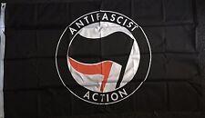 ANTIFA Flag Anarchy Chaos Anti Fascist Action Socialist Communist Demo Remain bn
