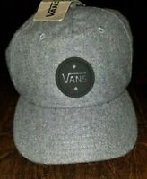 New Vans Off The Wall 5 Panel Camper Heather Grey Leather Strapback Hat $32