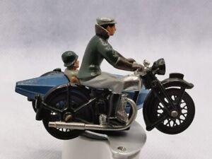 Moto Side Car de ville Norton - en métal Lesney - Cbg - Britain ?.