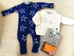 New In Pack & As New Bonds  wondersuit 000 & As New PA Knitted Jumper