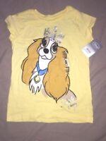 tee shirt neuf etiqueté coton la belle et le clochard taille S 5-6 ans