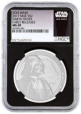 2017 Niue 1 oz. Silver Star Wars Darth Vader $2 NGC MS69 ER Black Excl SKU47493