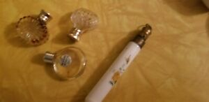 VINTAGE ANTIQUE  MINIATURE PERFUME BOTTLE LOT N.Ricci REVIENS .CHATALINE