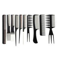 10Pcs Professional Anti-static Salon Barber Hair Styling Brush Hairdressing Comb