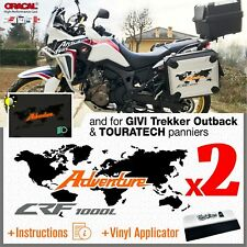 2x Honda CRF 1000L ADVENTURE Black/Orange Africa Twin 2016 stickers pegatina
