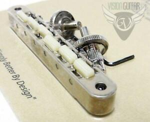 TonePros ABR1 NASHVILLE Tune-O-Matic Bridge NVR2G-AN Aged Nickel - Nylon Saddles