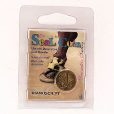 Manuscript Decorative Wax Sealing 18mm Coin Seal - Initial L