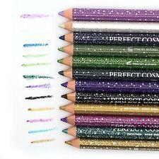 Set of 12pcs Glitter Eyeliner Lip Liner Pencils With Sharpener Cap  Long Lasting