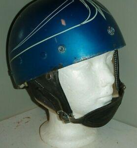 1950s Vintage Harley Davidson Half Helmet w/ Ear Protector ,Chin Strap Shorty 6¾