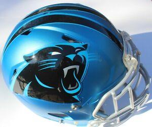 Carolina Panthers Custom Speed Blaze Football Helmet Decals Used McCaffrey