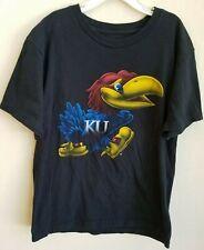 Kansas Jayhawks Adidas Youth Large L 14/16 Black Shirt Fanatics Pre-owned-EUC!!!