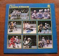 St. Louis Blues 1980-81 Season of Record LP Mike Liut Bernie Federko Autographed