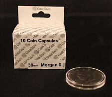 COIN CAPSULES - MORGAN + SILVER + EISENHOWER DOLLAR (38mm) - 10 TOTAL