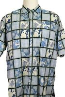 Tori Richard Men's 2XL Hawaiian 100% cotton lawn Shirt, shells, coral, camp