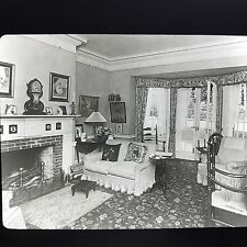 Antique Magic Lantern Glass Slide Photo Live No Room From 20-30s