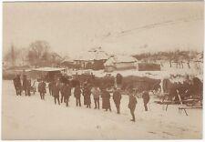 31/138 FOTO SOLDATEN CAMP IN RUSSLAND 1. WELTKRIEG PLANWAGEN PFERD WINTER