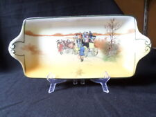 Royal Doulton. Coaching Days. Sandwich or Cake Plate. (26.5cm). Made In England.