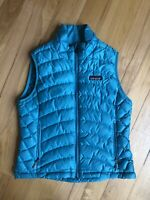PATAGONIA Teal / Blue Goosedown Puffer Vest Women's Size S