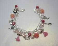 The Tea Rose Faerie charm bracelet pretty fairy jewellery cup bag teapot spoon