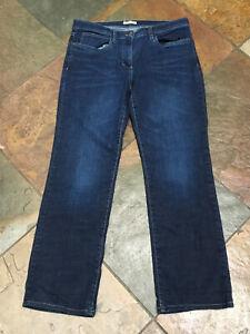 "0620 EILEEN FISHER 10 x 29"" Stretch Organic Cotton Denim Straight Leg Jeans B"