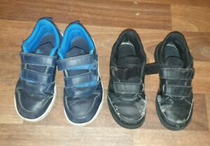 2 pairs of Adidas boy's trainers shoes UK size 12 bargain
