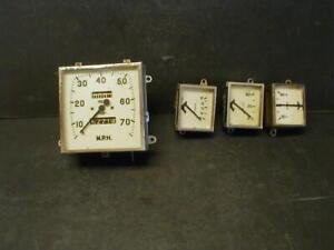 OE 1950-1951 AUSTIN A40 DEVON SALOON SPEEDOMETER & 3 GAUGES - FUEL, OIL, AMPS