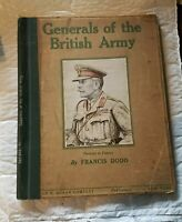Generals of the British Army Book by Francis Dodd 1st Edition?