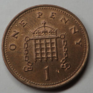 Great Britain Penny 2002 Copper Plated Steel KM#986 UNC
