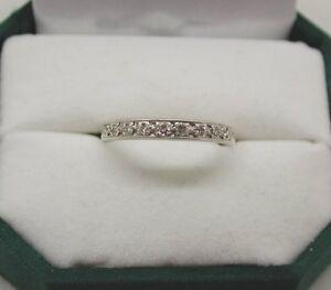 Vintage 9ct White Gold Diamond Set Half Eternity Ring