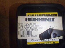 "Guhring RT800WP 24.610mm (.9689"") Carbide Firex Coated Drill Insert"
