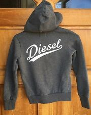 Diesel Girls Grey Heather Zippered Sweat jacket Hoodie Size 12