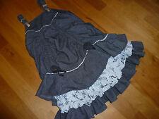 Jottum bauschiges Schleifen Ballon Material Mix Kleid Gr 116 ( 110 / 104 / 122 )