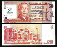 PHILIPPINES 50 PISO 2009 UNC P.201 COMMEMORATIVE 60 YEARS OF CENTRAL BANKING
