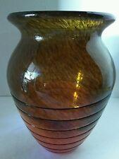 Decorative art glass vase - home decor - floral