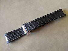 Omega Seamaster Aqua Terra OEM 20mm Black Rubber Strap & Deployant Clasp