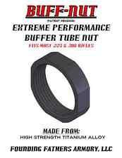 EXTREME PERFORMANCE BUFFER TUBE CASTLE NUT, TITANIUM, 40% LIGHTER, BLACK, USA